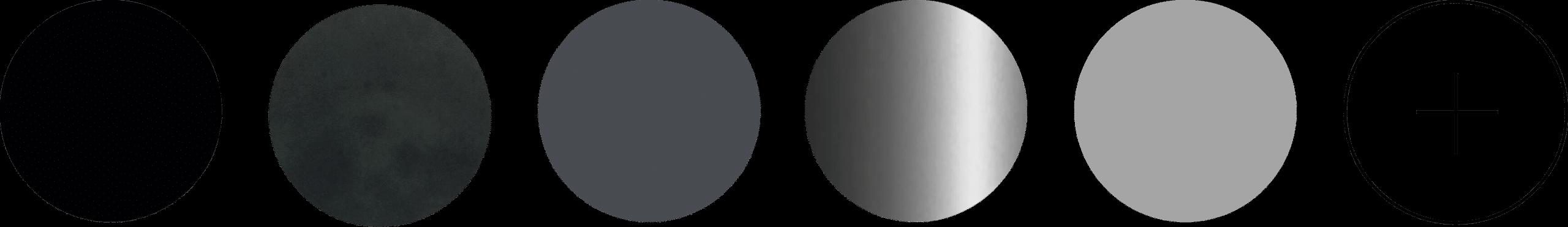 6 verschillende Metaal bolletjes in donker en lichte tinten